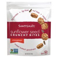 Somersaults Crunchy Sunflower Seed Bites - Cinnamon - pack of 6 - 6 Oz.