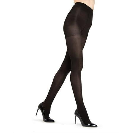 e985c43e6 MeMoi - MeMoi Gloss Opaque Tights| MeMoi Women's Tights - Hosiery -  Pantyhose Medium/Large / Black MO 120 - Walmart.com