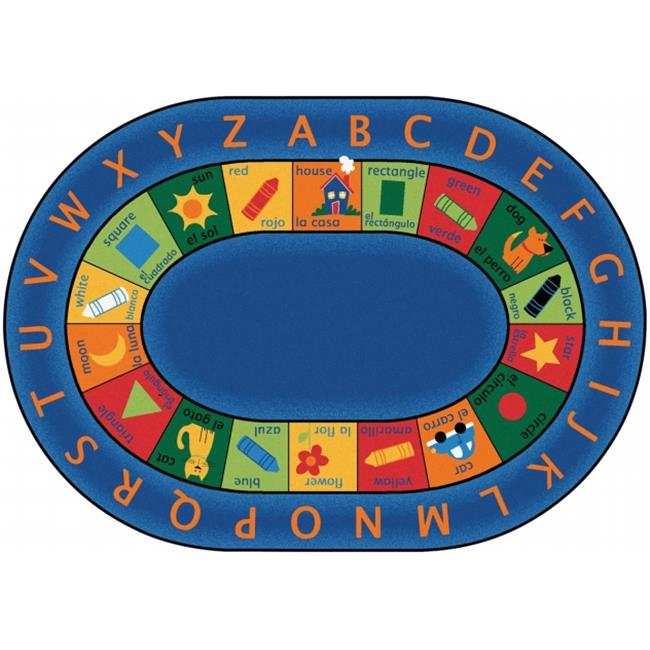 Carpets For Kids 9506 Bilingual Circletime 6. 75 ft.  x 9. 42 ft.  Oval Rug