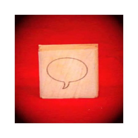 Small Right Thought Balloon Oval Art Rubber Stamp