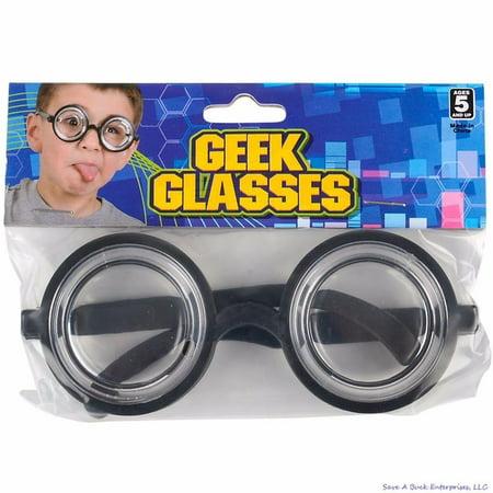 450fd6897a 50 s Nerd Geek Dork Glasses Thick Lens Kids Shades Costume Coke Bottle  Frame - Walmart.com