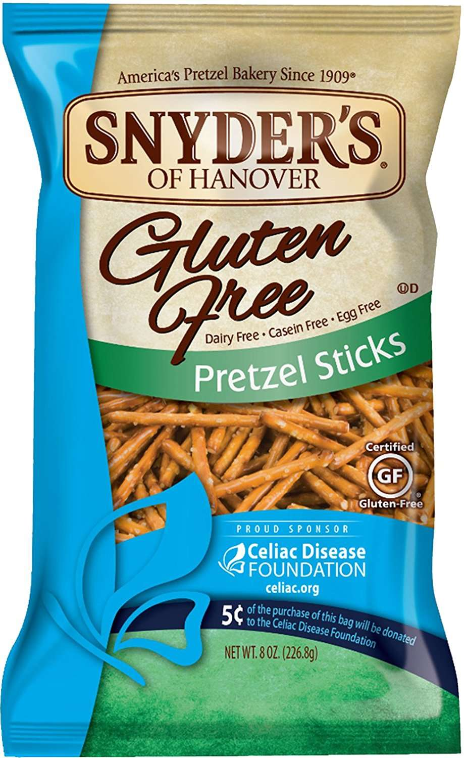 Snyder's of Hanover Gluten Free Pretzels, Sticks, 8 Oz by Snyder's-Lance