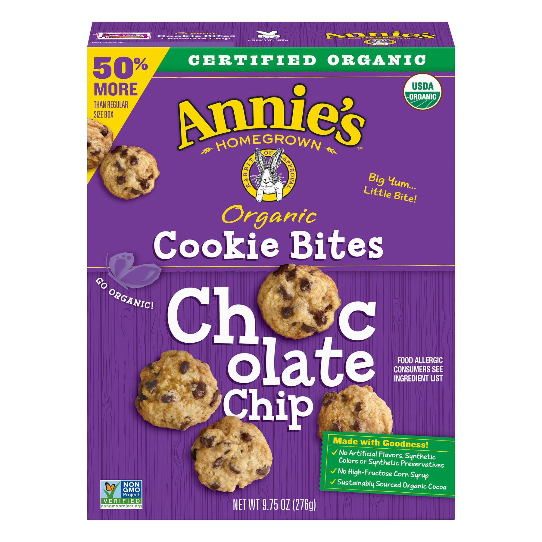 Annie's Homegrown Organic Cookie Bites Chocolate Chip