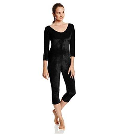 RG Costumes 503-01-L Unitard Velvet - Adult, Black - image 1 de 1