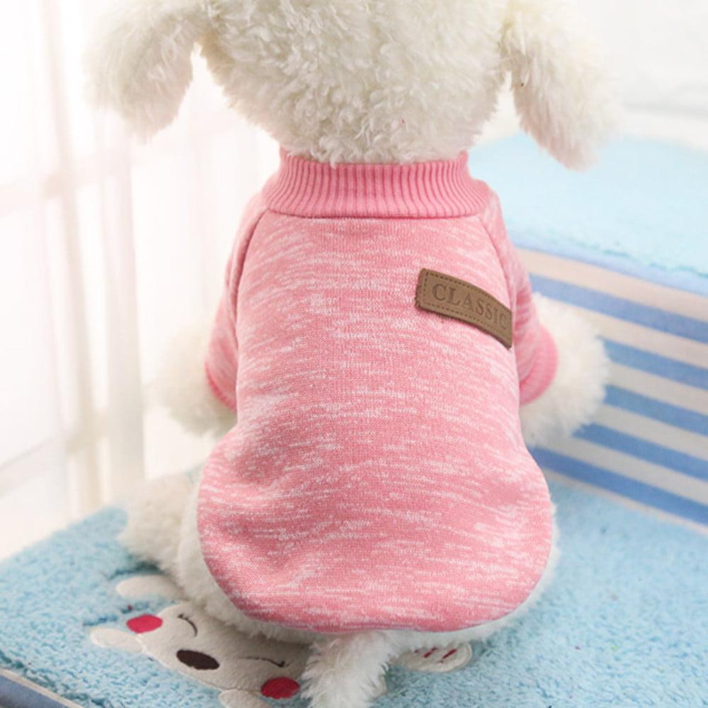 Pet Dog Puppy Classic Sweater Fleece Sweater Clothes Warm Sweater Winter