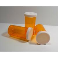 RX Medicine Vials 8 Dram Amber Snap Cap 25 Pack