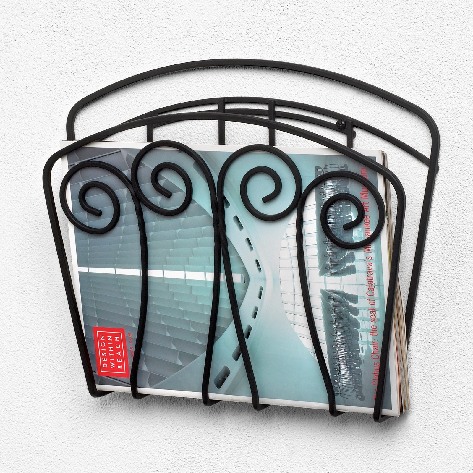Click here to buy Spectrum Diversified Scroll Wall Mount Magazine Rack by Spectrum Diversified Designs.
