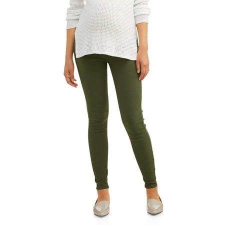 Maternity Full Panel Five Pocket Skinny Pant - Available in Plus Sizes Duo Maternity Pants