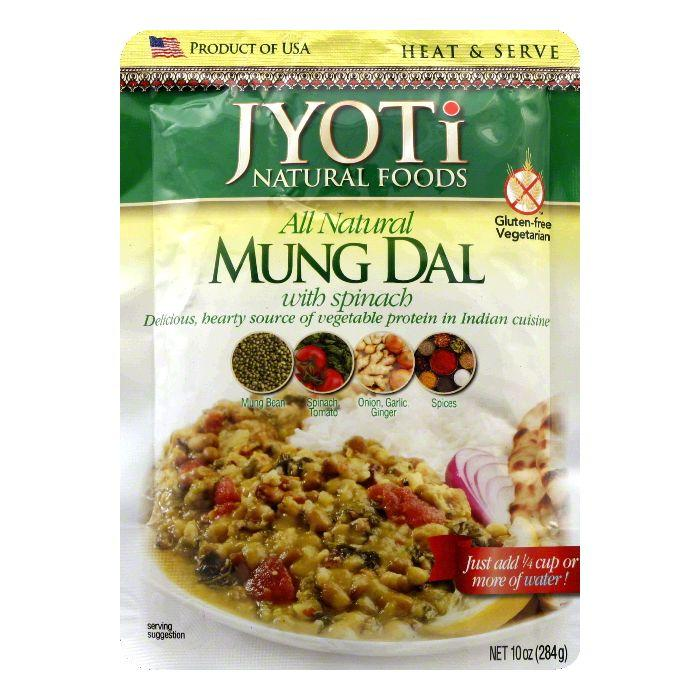 Jyoti Gluten Free Mung Dal with Spinach, 10 OZ (Pack of 6) by