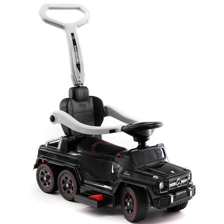 Kids Push Car Ride On Electric Powered Mercedes G63 AMG for Toddlers W/ Electric Pedal, Baby Stroller, 6x6 Wheels - (Toddler Pedal Car)