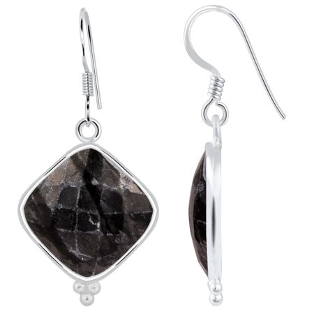 (Orchid Jewelry Mfg Inc Orchid Jewelry Picasso Jasper 925 Sterling Silver Earrings Dangle)