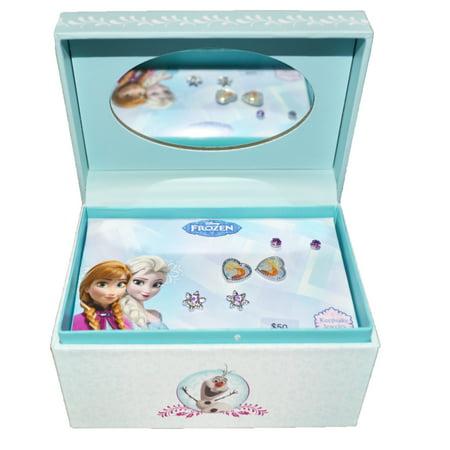 - Frozen Anna and Elsa Earrings Keepsake Mirror Jewelry Box 3 Pack Set