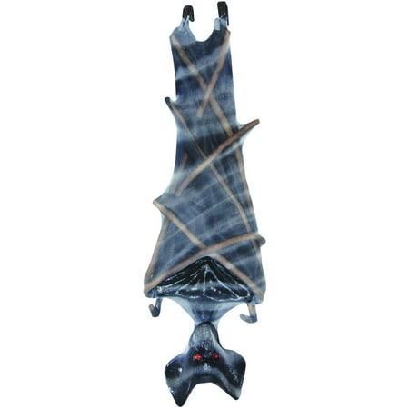 Gray Upside Down Mesh Bat Halloween Decoration