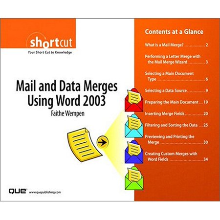Mail and Data Merges Using Word 2003 (Digital Short Cut) -