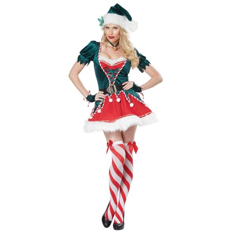 Womens Santas Helper Costume - Naughty Santa Helper Outfits