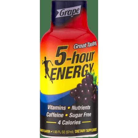 (2 Pack) 5-Hour Energy Shot, Grape, 1.93 Fl Oz, 6 - 5 Hour Energy Orange