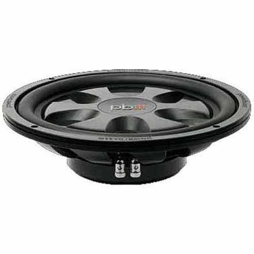 "PowerBass S-12TD Thin-Mount 12"" Subwoofer, Black"