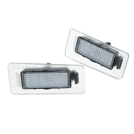 Pair 13.5V White LED Rear License Plate Lights For Hyundai Elantra 2011-2012  - image 3 of 7