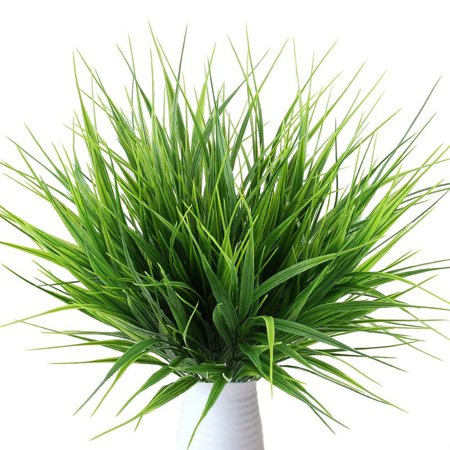 Plastic Artificial Grass Plant (5PCS Green Artificial Plants Decorative Bendable Fake Plastic Plant Fake Grass Indoor Outdoor Home Office Garden Decoration Wedding Plants)