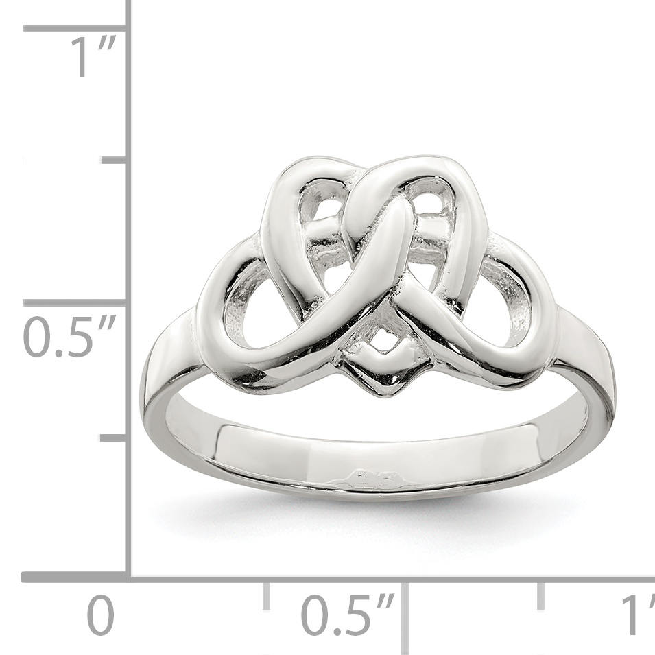 925 Sterling Silver Band Ring Size 8.00 Claddagh Celtic Fine Jewelry Gifts For Women For Her - image 1 of 2
