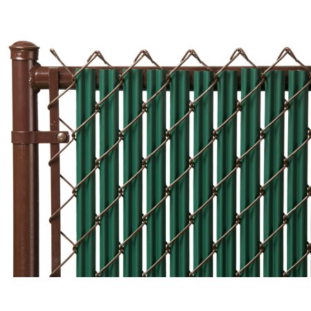 Green 6ft Ridged Slat for Chain Link Fence