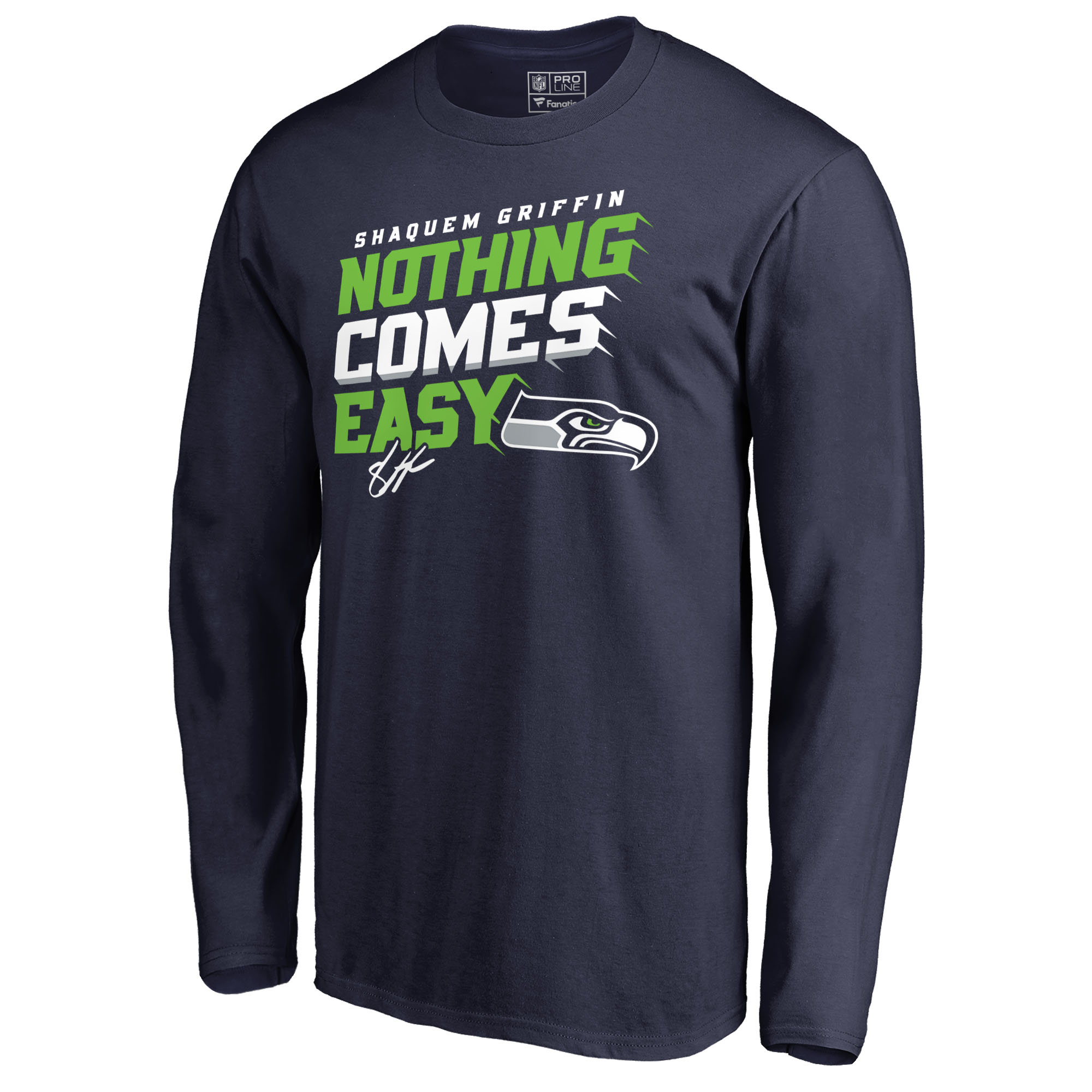 Shaquem Griffin Seattle Seahawks NFL Pro Line by Fanatics Branded Hometown  Collection Nothing Comes Easy Long Sleeve T-Shirt - Navy - Walmart.com 8a4df8e77