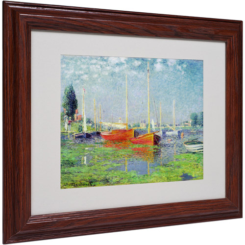 "Trademark Fine Art ""Argenteuil"" Matted Framed Canvas Art by Claude Monet"