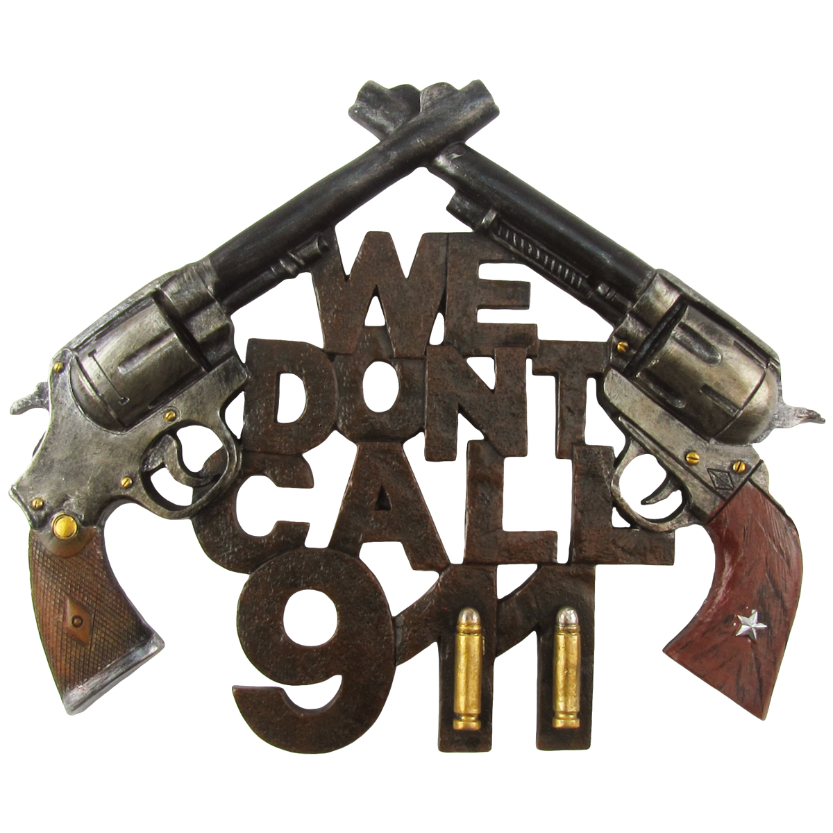 New Funny WE DON'T CALL 911 Home Security Warning Sign Gun Front Door/