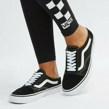 latest discount 100% authentic popular brand Vans Old Skool Mule Black/True White Women's Skate Shoes Size 10.5