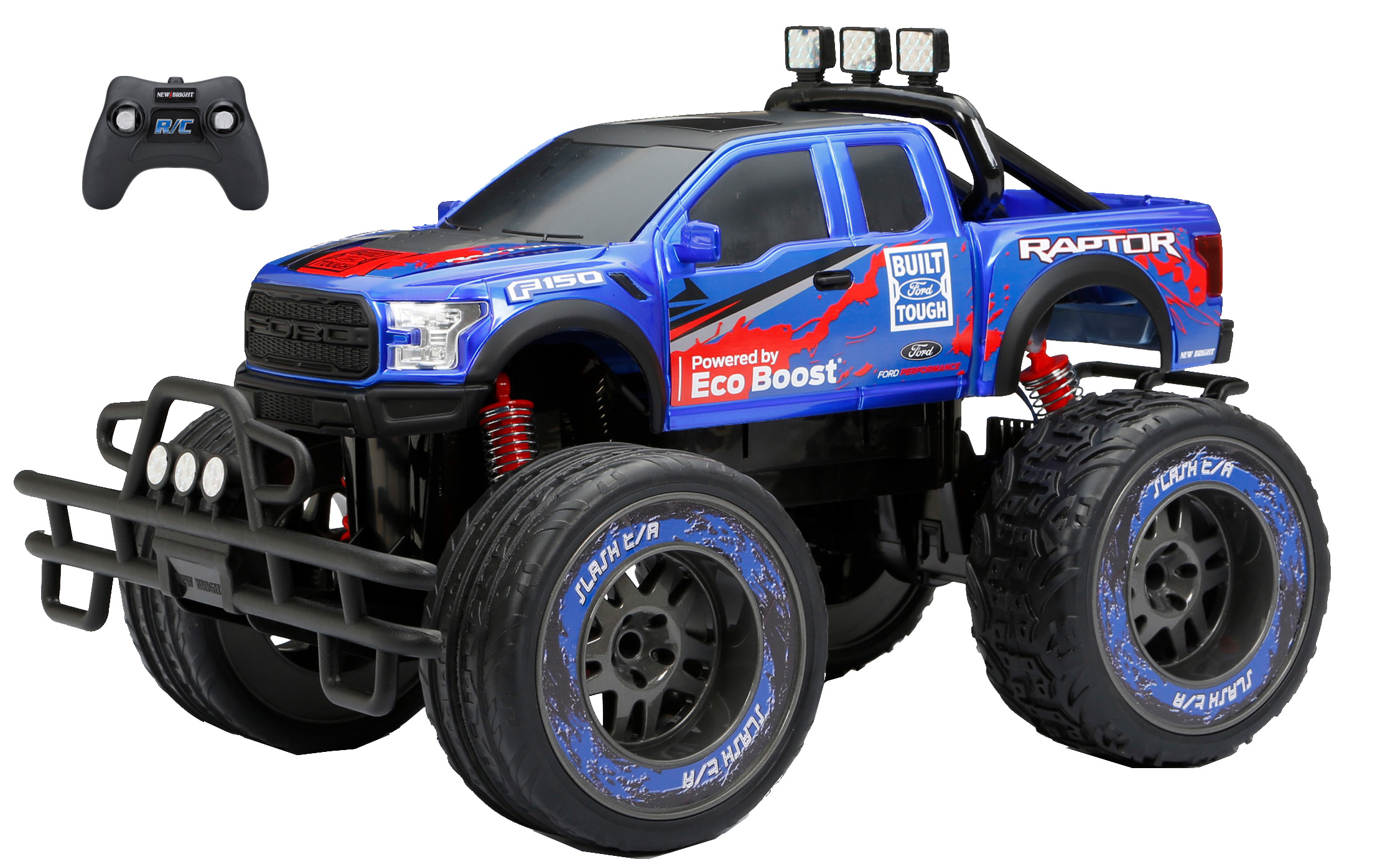 New Bright 1:10 Radio Control 9.6v Ford Raptor Truck- Blue by New Bright Industrial Co., Ltd.
