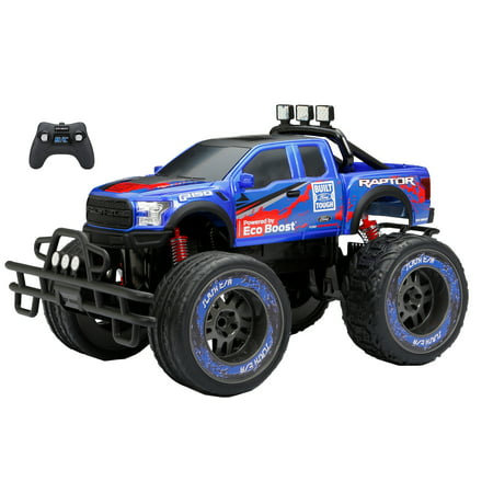 (New Bright 1:10 Radio Control 9.6v Ford Raptor Truck- Blue)