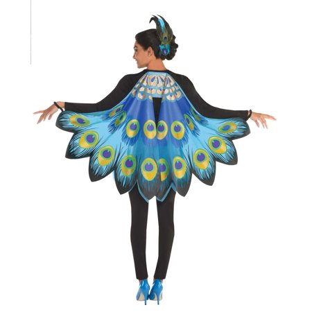 Male Peacock Halloween Costume (Peacock Womens Adult Soft Fabric Bird Halloween Costume)