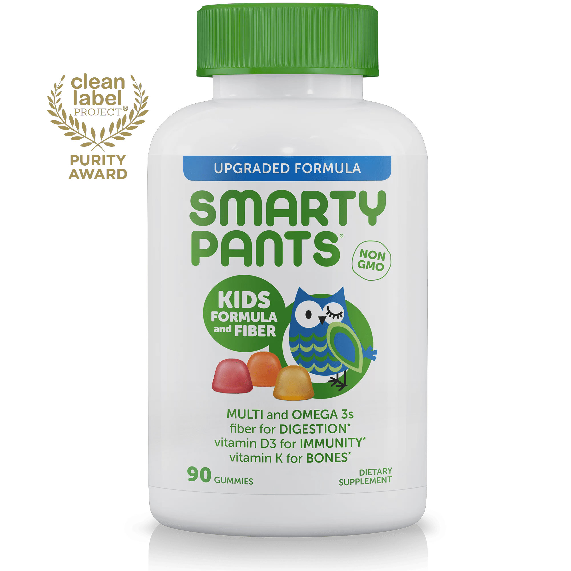 SmartyPants Kids Formula and Fiber Multivitamin Gummies, 90 Ct