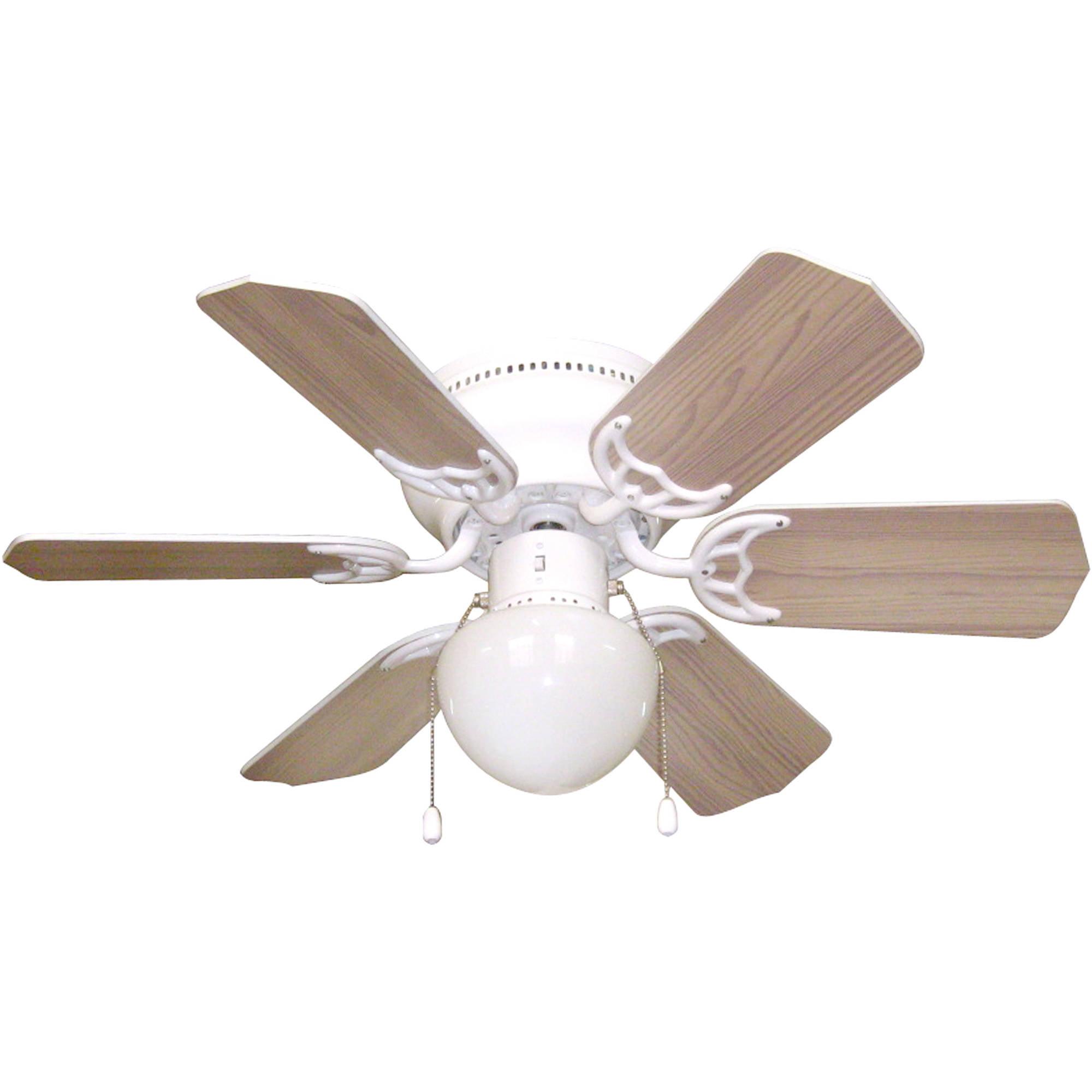 "Litex Industries Vortex Hugger 30"" Hugger Ceiling Fan White"
