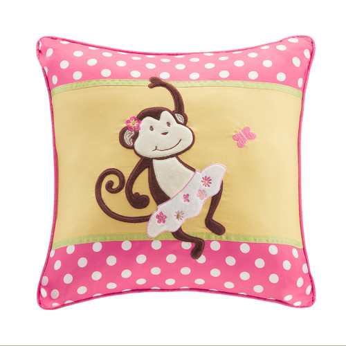 Zoomie Kids Alice Applique and Printed Throw Pillow