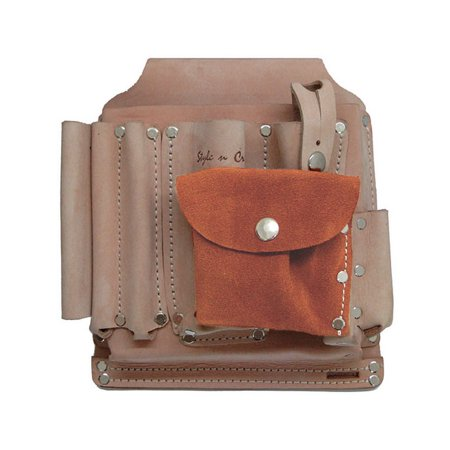 Style N Craft Heavy Top Grain Leather 9 Pocket Surveyor's Tool Pouch