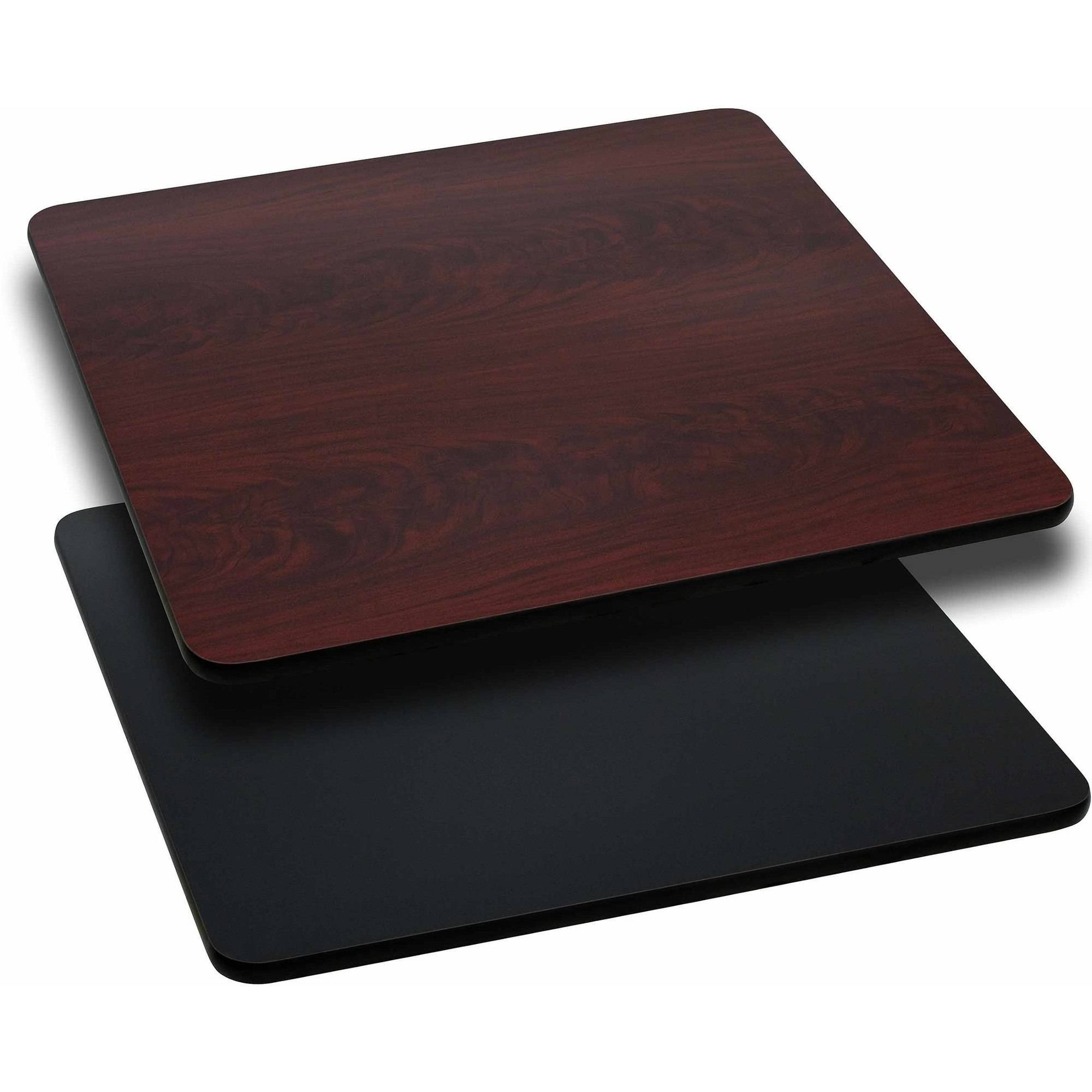 """Flash Furniture 36"""" Square Table Top with Reversible Laminate Top, Multiple Colors"""