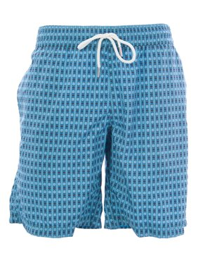 NAILA Men's Printed Drawstring Swim Trunks Sz Small Navy
