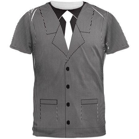Halloween 20's Gangster Costume All Over Adult T-Shirt