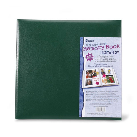 Scrapbook Hunter Green 12X12 With 10 Top Load Page Protector