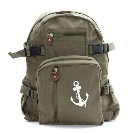 Nautical Anchor Army Sport Heavyweight Canvas Backpack Bag](Nautical Backpack)