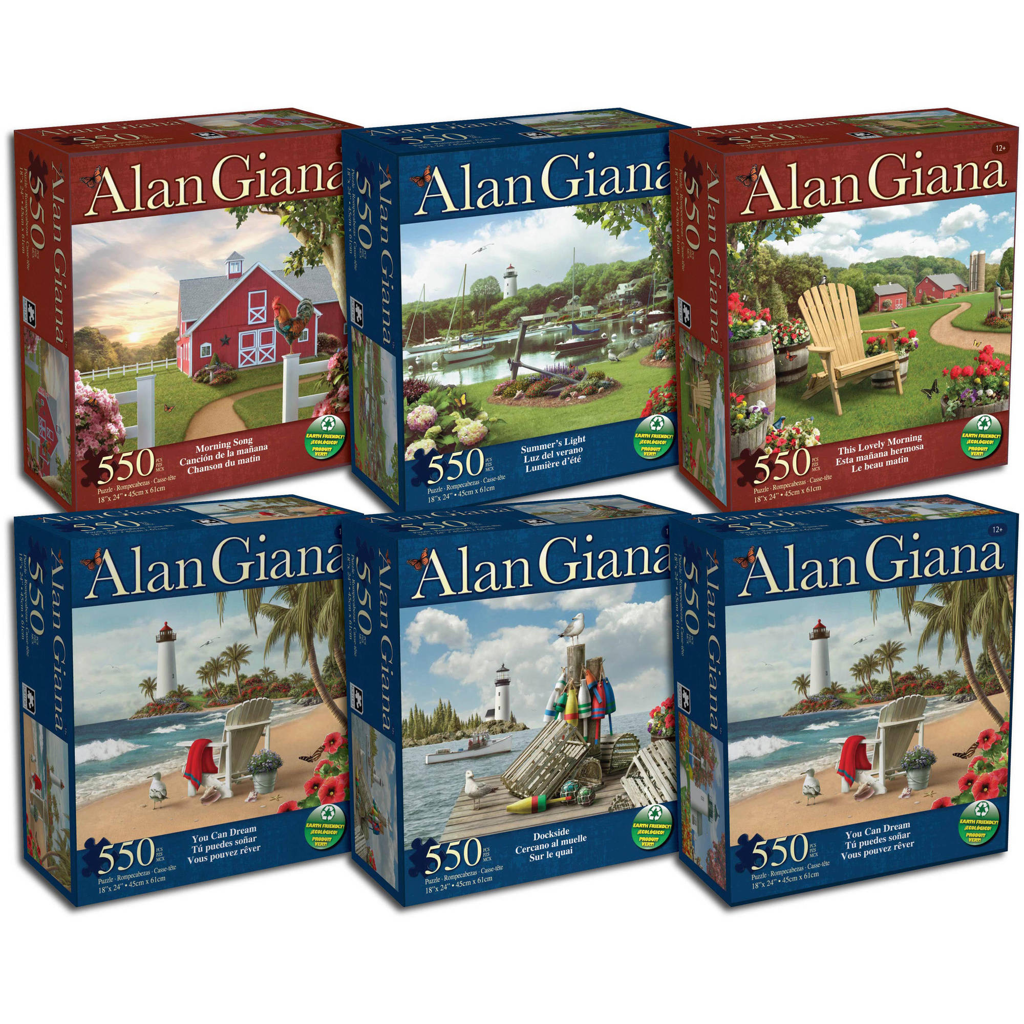 "550-Piece Alan Giana 18"" x 24"" Puzzle by Karmin Industries"