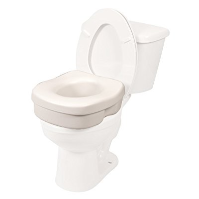 Elevated Toilet Seat Riser (Lightweight Molded Toilet Seat Riser (5 Inch Lift) )