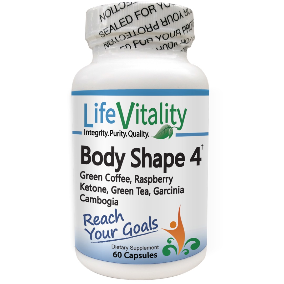 Life Vitality Body Shape 4, Weight Loss Fat Burning Supplement, 60 Caps