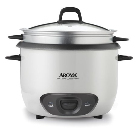 Aroma 6-Cup Rice Cooker and Food Steamer