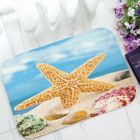 GCKG Summer Beach Seashell Starfish Sand Sky Non-Slip Doormat Indoor/Outdoor/Bathroom Doormat 30x18 Inches - image 3 de 3