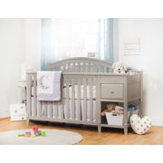 Sorelle Brittany 4-in-1 Convertible Crib and Changer, Heritage Fog
