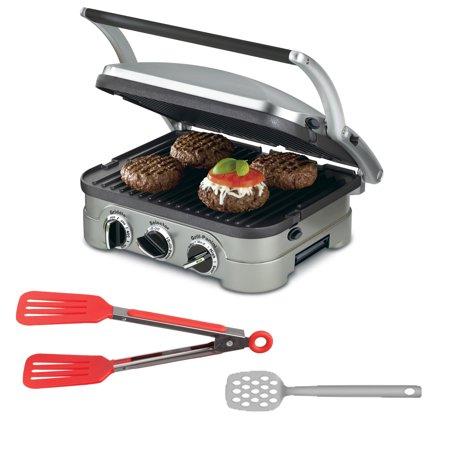 Cuisinart gr 4n griddler stainless steel 4 in 1 grill - Cuisinart griddler grill panini press ...
