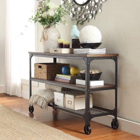 Inspire Q Nelson Industrial Modern Rustic Console Sofa Table Tv Stand By  Classic