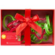 wilton christmas plastic cookie cutter box set 10 piece gift set - Christmas Cookie Cutters Walmart